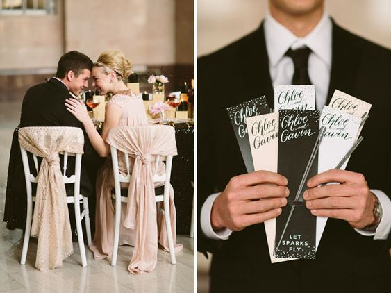 cute wedding spaklers