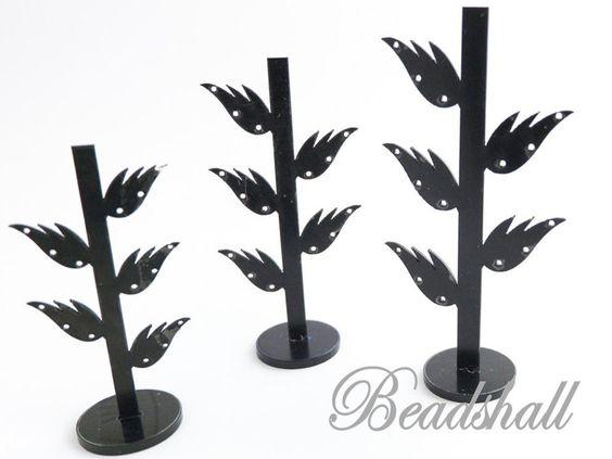 Schmuckständer - Ohrringständer 3er Set für je 7 Paar Ohrringe - ein Designerstück von beadshall bei DaWanda