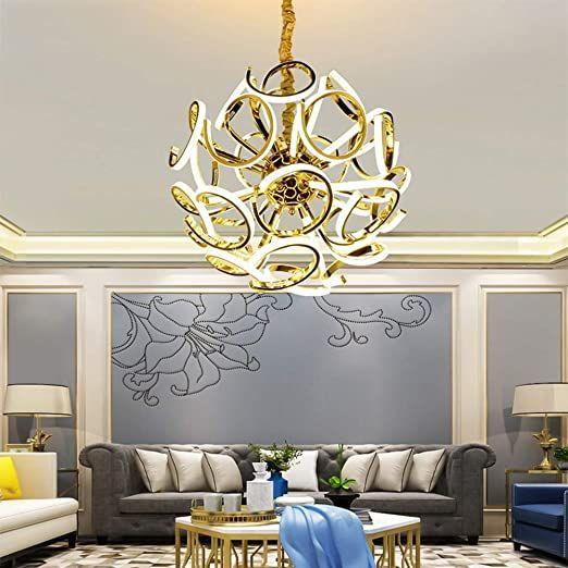 Ruixia Chandelier Luxury Modern Living Room Light Led Lamp 24 Crystal Crystal Metal Li In 2020 Modern Living Room Lighting Living Room Lighting Modern Living Room