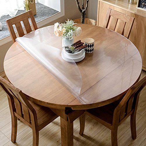 Table Cloths Round Soft Pvc Dining Tablecloth Clear Frosted