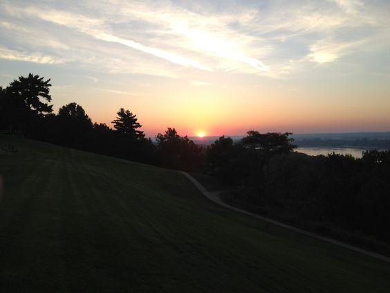 A view of the sunrise at White House Retreat.  www.whretreat.org