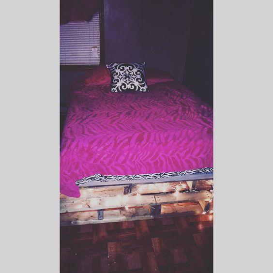 My DIY pallet bed. So simple!