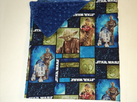 StarWars Baby Toddler Security Blanket Minky And by AuntBsBonnets, $18.00