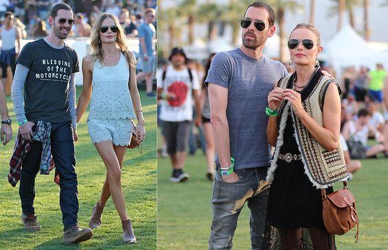 Kate Bosworth y Michael Polish forman otra de las parejas que nunca se pierden el festival de Coachella