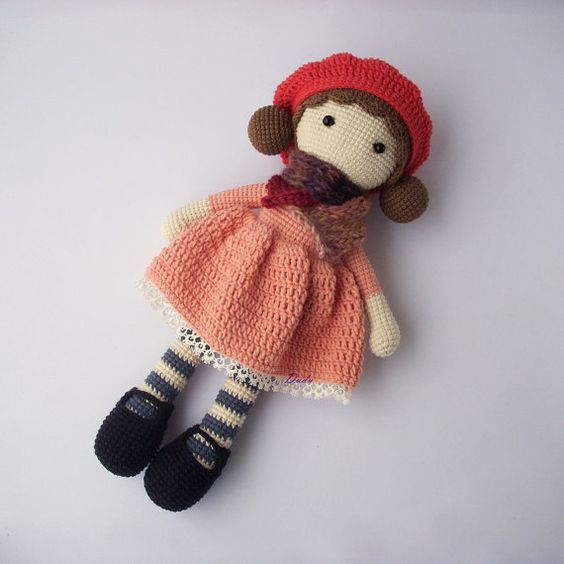 Amigurumi How To Get Started : PDF Crochet doll Aria crochet doll Crochet by ...
