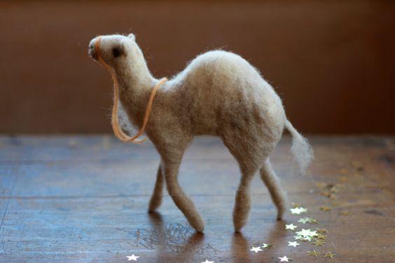 Camel, Needle Felted