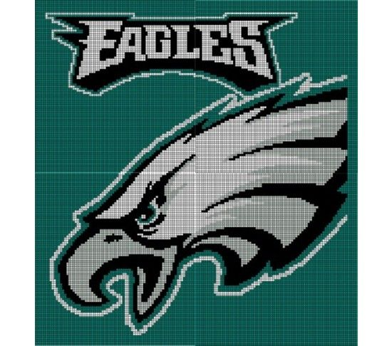Philadelphia Eagles Crochet Pattern Afghan Graph