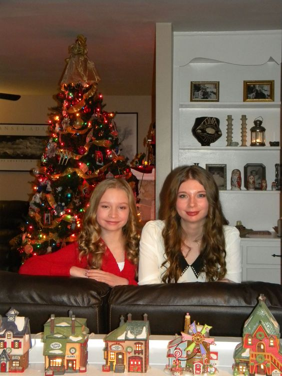 Our Granddaughters, Shelby & Rachel, Christmas 2012