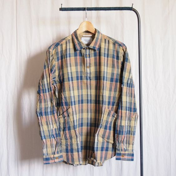 YAECA - Pullover Shirt #yellow check