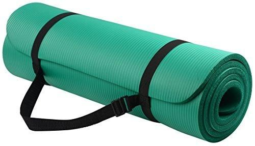 Balancefrom Goyoga All Purpose 1 2 Inch Extra Thick High Density Anti Tear Exercise Yoga Mat With Carrying Strap Yoga Mats Best Yoga Mat Strap Mat Exercises