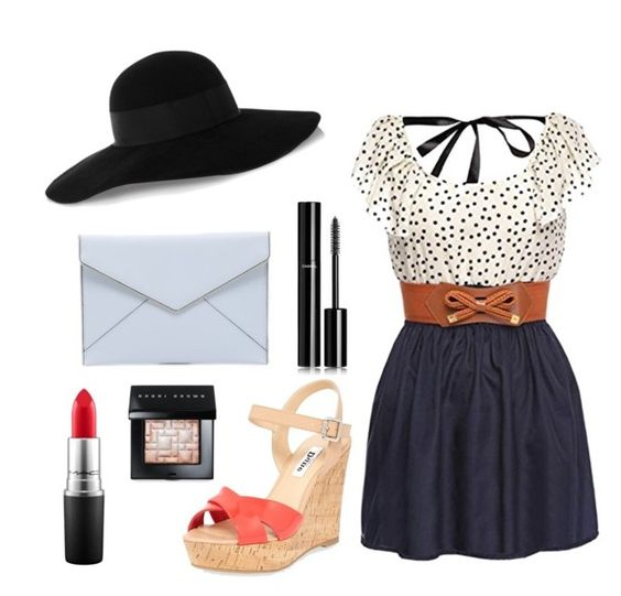 """""""casual outfit girly with a dress"""" by abbygirly ❤ liked on Polyvore featuring Dune, Eugenia Kim, Rebecca Minkoff, Chanel, Bobbi Brown Cosmetics and MAC Cosmetics"""