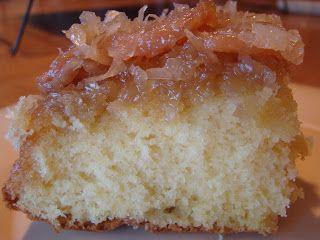 HoneyBeeHive: Banana Coconut Upside Down Cake