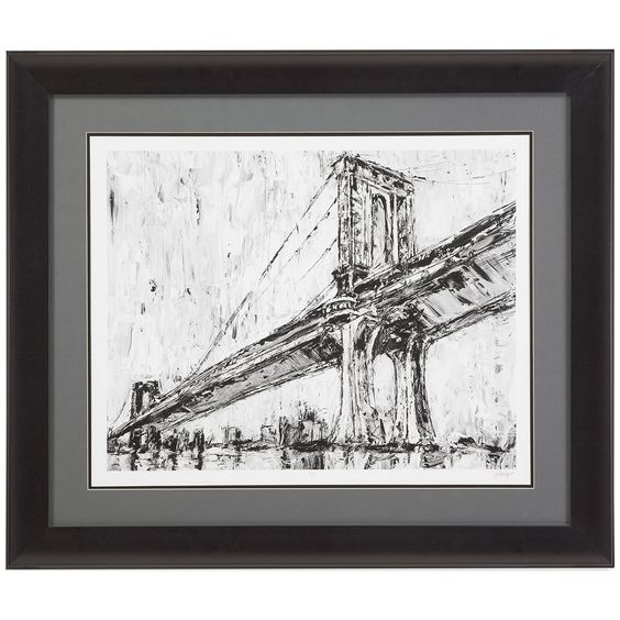 Bassett Mirror Belgian Modern Iconic Suspension Bridge I Art
