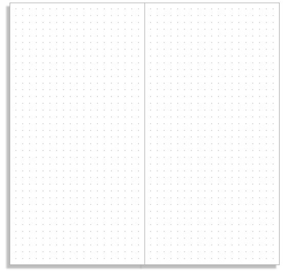 Print a basic dot grid notebook insert for your Midori Traveler's Notebook