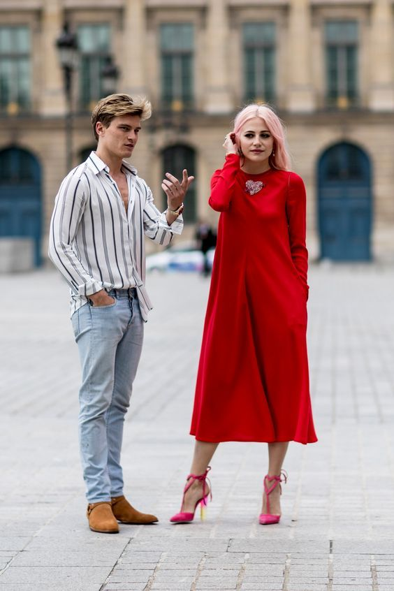 Red Christmas Street Style Ideas Pinterest Holiday Party Outfit Casual Casual Party Outfit Fashion Week Street Style