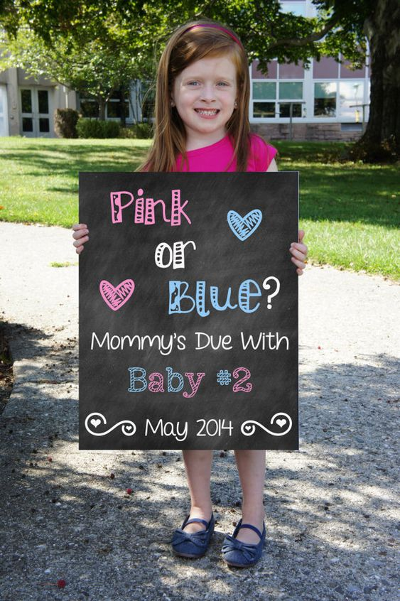 Printable Chalkboard Pregnancy Announcement Pregnancy Reveal – Cute Ways to Announce a Baby