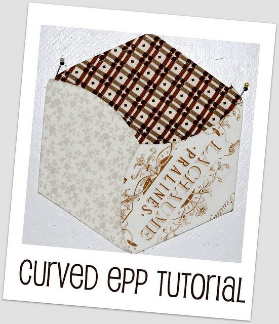 Curved EPP tutorial by Lynne @ Lilys Quilts, via Flickr