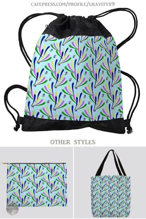 Drawstring Backpack Colorful Chevron Shoulder Bags