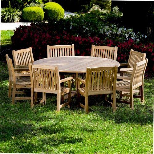 9 Pc Buckingham Veranda Teak Dining Set Westminster Teak Westminster Teak Teak Dining Table Outdoor Gardens Design