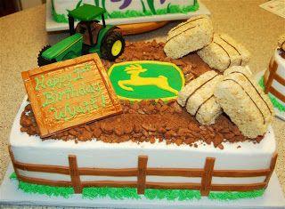 Pink Outside the Box Cakes: John Deere 1st Birthday Cake & Smash Cake