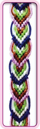 Friendship Bracelet Pattern Arrow Leaves Design