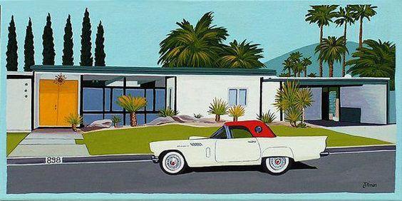 Mid Century Modern Eames Retro Limited Edition by LTillmanArt #Homedecorretro