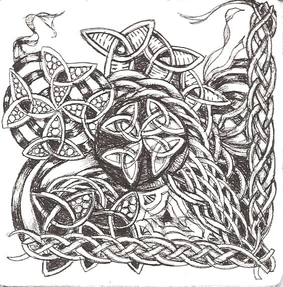 viking zentangle