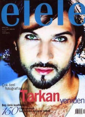 tarkan | Tarkan on the cover of Elele magazine, October 2001 edition