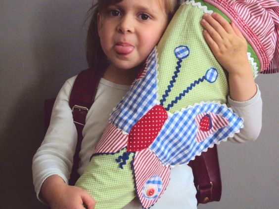 """Schultüten - Schultüte """"Schmetterling"""" - ein Designerstück von kleine-schwester bei DaWanda"""