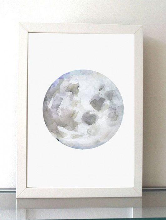 Peinture De La Lune Giclee Print Lilas Violet Moon Art
