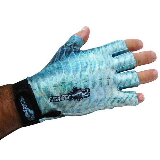 Fishage sun glove with black strap bonefish i love for Fishing sun gloves