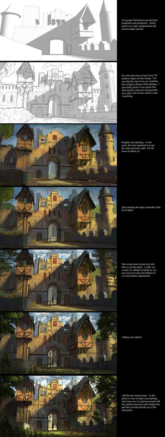 Painting tutorial by JonathanDufresne on DeviantArt via cgpin.com