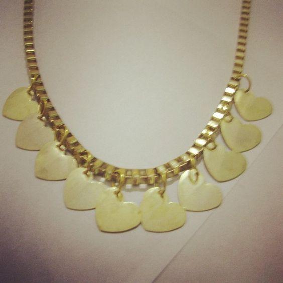 Collar oro Corazones