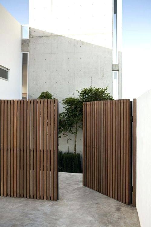 Modern Wood Gate Vertical Slat Wood Fence And Gate Modern Wooden Side Gates Privacy Fence Designs Fence Design Wooden Gates Driveway