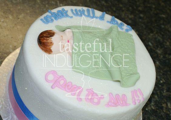 Gender reveal cake.  Inner filling tells whether it's a boy or a girl!    #caketodiefor  Seward, Nebraska