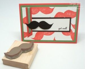 Undefined Moustache carved by Tanya Bell