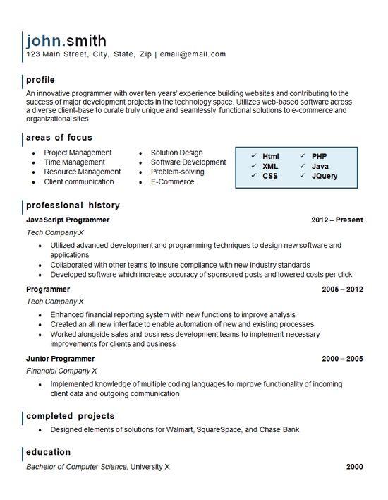 Computer Programming Resume Example Website Software Website Software Resume Examples Resume Template
