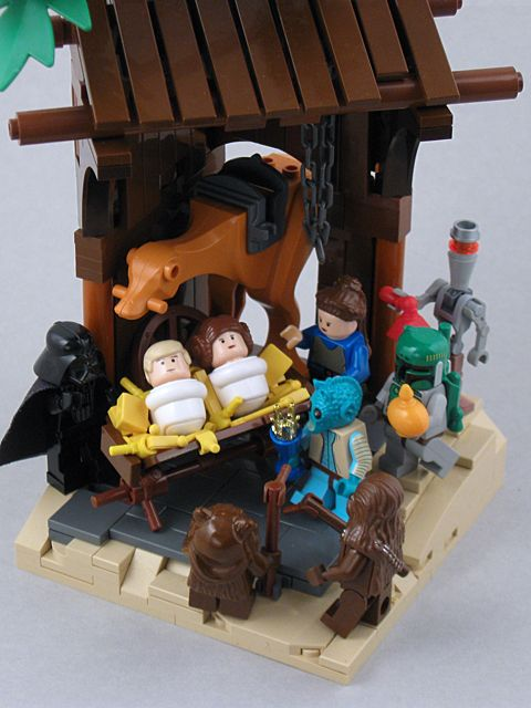 "Star Wars Nativity  ... Happy 35th Birthday. Nothing says fan like ""nativity"""