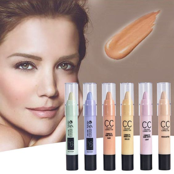 Colour Corrector Concealer Stick Shades Highlighter/Eye Circle/Redness 6 Colors…