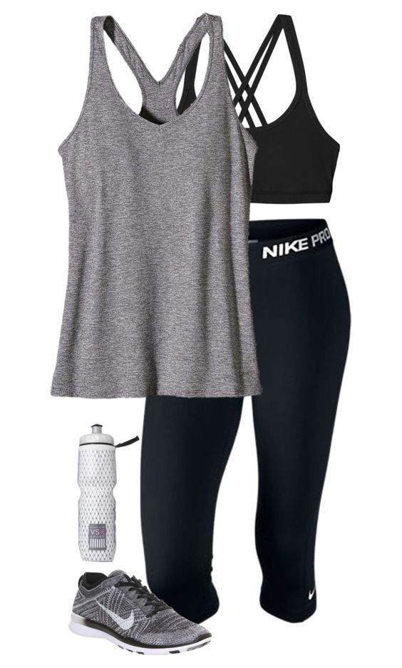 """""""workout outfit"""" by sassy-and-southern ❤ liked on Polyvore featuring Patagonia, NIKE and Victoria's Secret:"""