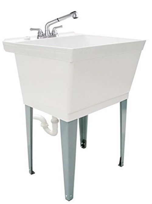 Ldr 040 6000 19 Gallon Laundry Sink Utility Tub Set With Pull Out