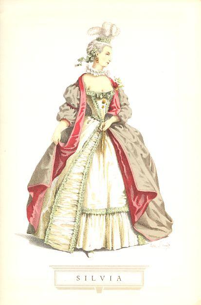 In origine, coi nomi di Fiore o Fiorinetta, la giovane amorosa era un tipo d'ingenua che trionfava delle avversità e delle malizie appunto in forza del proprio candore; una maggior compiutezza, che non mancò di lasciar tracce nell'avvenire del personaggio, si ebbe con Silvia, nome d'arte dell'attrice Rosa Zanetta Besozzi, giunta a Parigi con la sua compagnia nel 1716, e che fu interprete Insuperata del teatro di Marivaux.