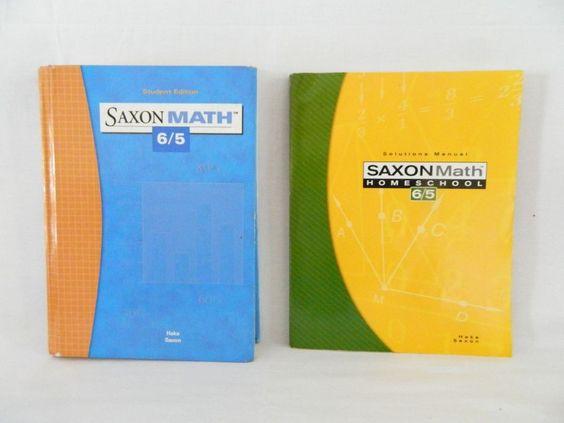 Saxon Math 65 Student w. Solutions bk,  3rd Ed, Homeschool or School…