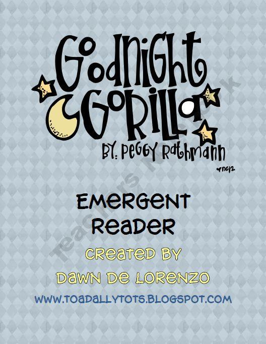 Free Good Night Gorilla Emergent Reader Good Night