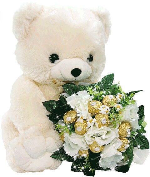 Pin By Krystyna S On Dzien Dziecka Happy Birthday Teddy Bear Bear Gif Teddy Bear Quotes
