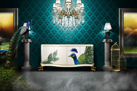 A touch of peacock is good, maybe not total peacock!  Peacock Jetclass Limited Edition Luxury Interior Design