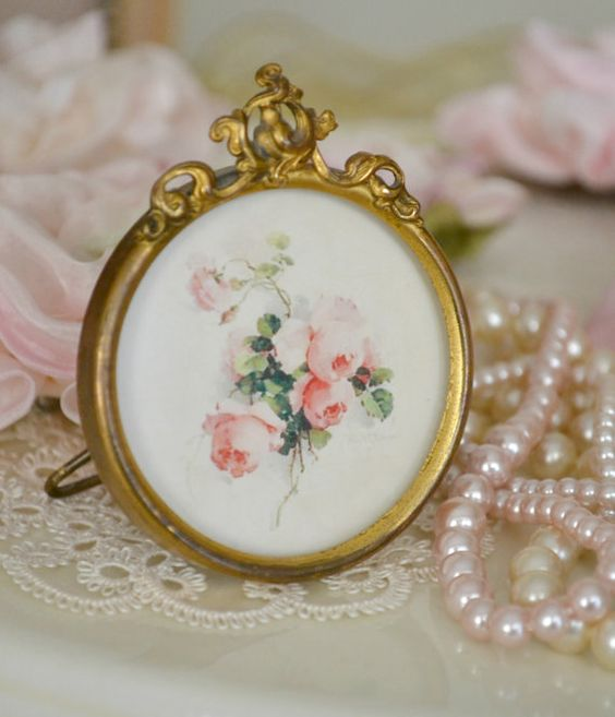 Beautiful Small Antique Ormolu Picture Frame by Jenneliserose