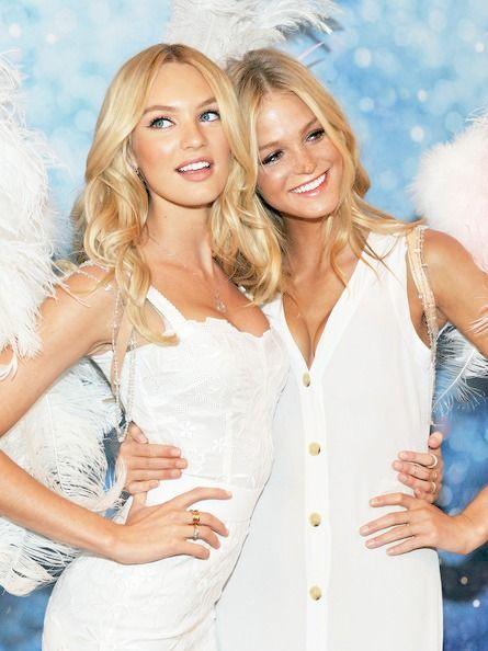 Candice Swanepoel and Erin Heatherton Photos Photos: Victoria's Secret Launches…