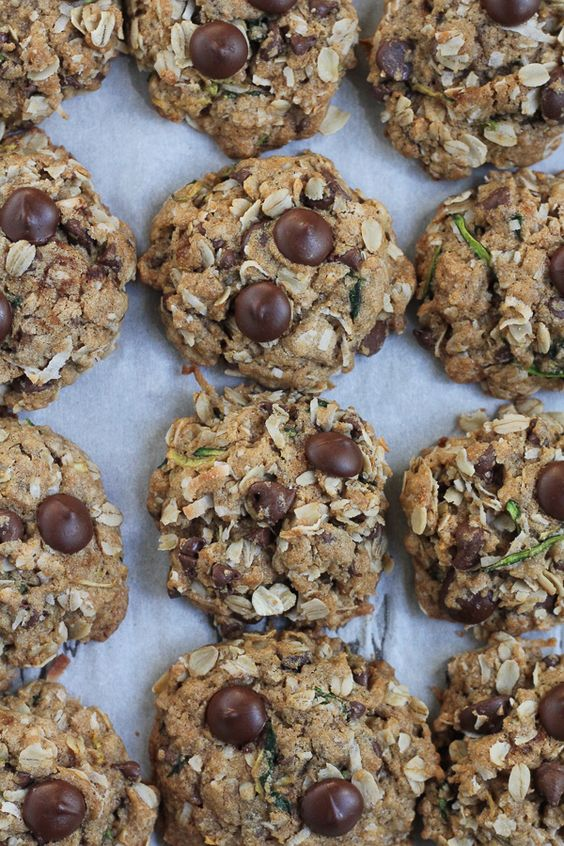 Gluten Free Zucchini Coconut Chocolate Chip Cookies - Hip Foodie Mom
