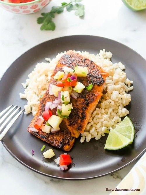 blackened-salmon-with-pineapple-salsa-and-coconut-rice4 ...